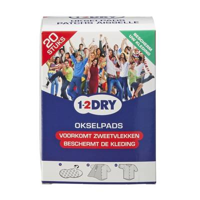 1-2 Dry Okselpads Small Wit