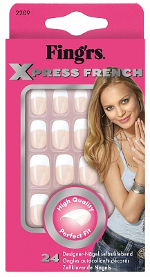 Fing'Rs Pre-Glued Xpress French - 24 stuks - Nepnagels