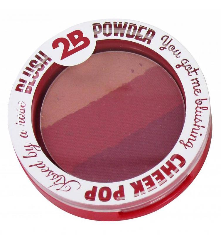 Foto van 2B Blush Powder Trio 03 Burgundy