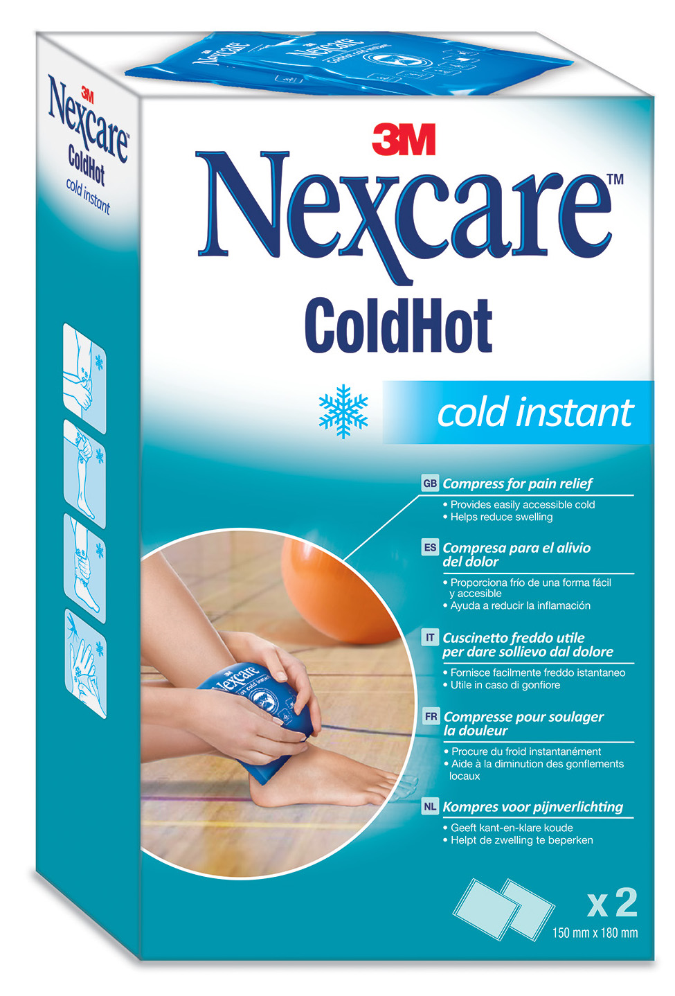 3M Nexcare Coldhot Instant Cold 2st
