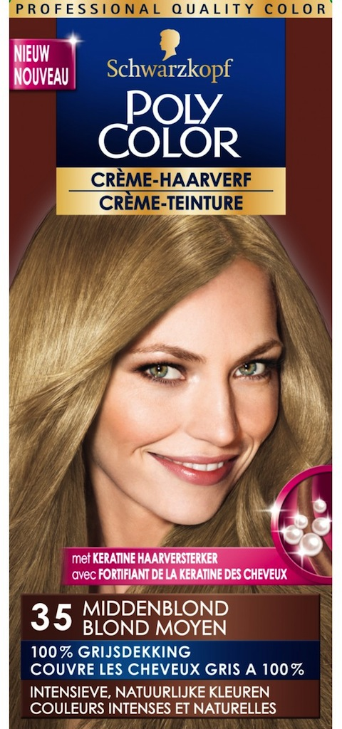 Poly Color Creme Haarverf 35 - Middenblond - Haarkleuring
