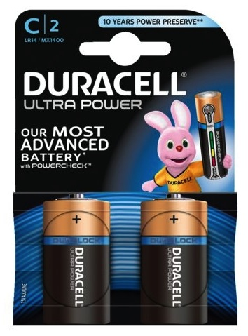 Duracell Ultra Power 2-pack C