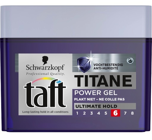 Taft Power Gel Titane pot - 250 ml - Gel