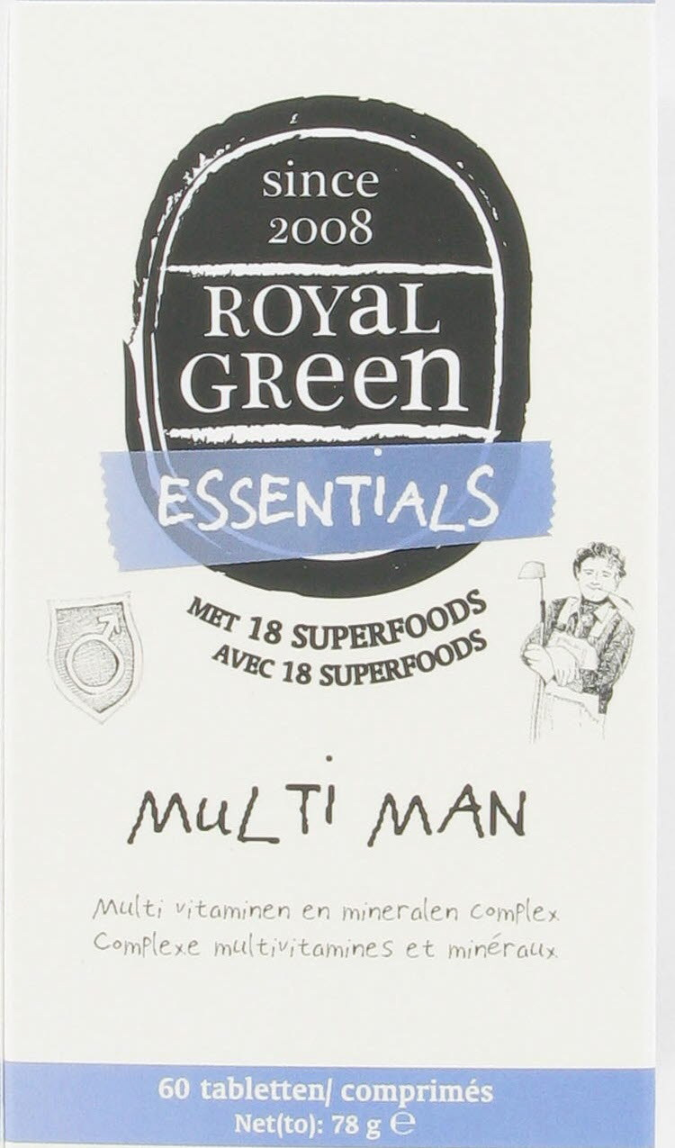 Royal Green Voedingssupplementen Royal Green Multi man 60tab