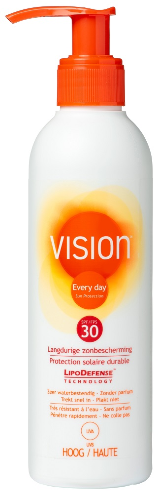 Image of Vision Every Day Sun Protection Zonnebrand Pomp SPF30