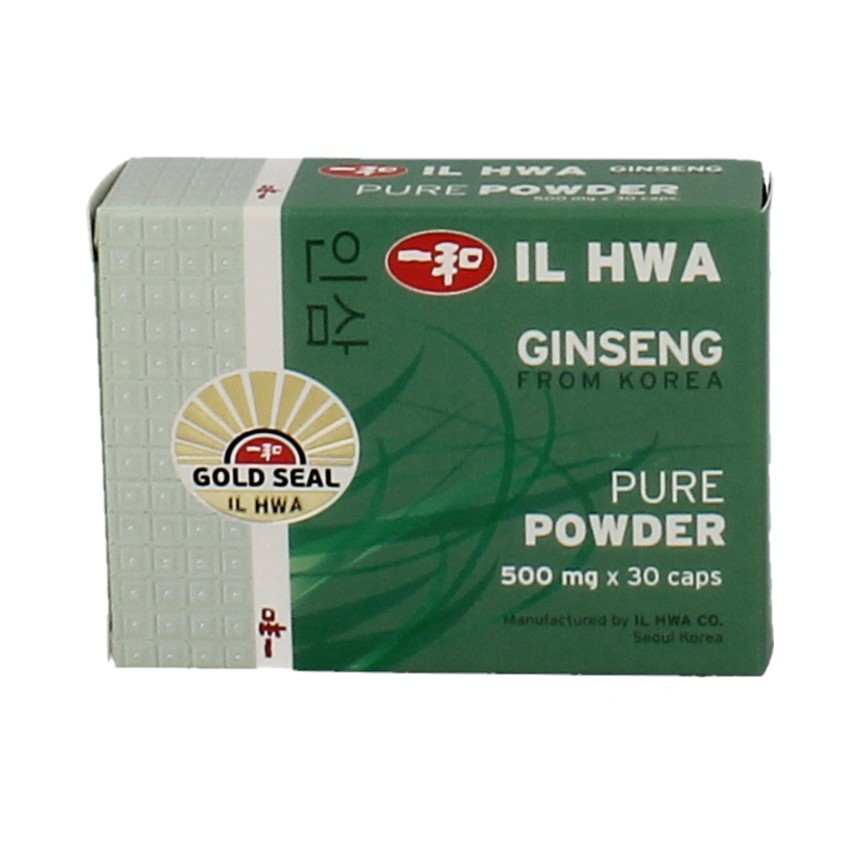 IL Hwa Ginseng Poeder 500mg 30 cap