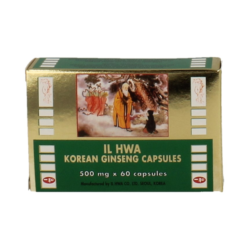IL Hwa Ginseng Poeder 500mg 60 cap