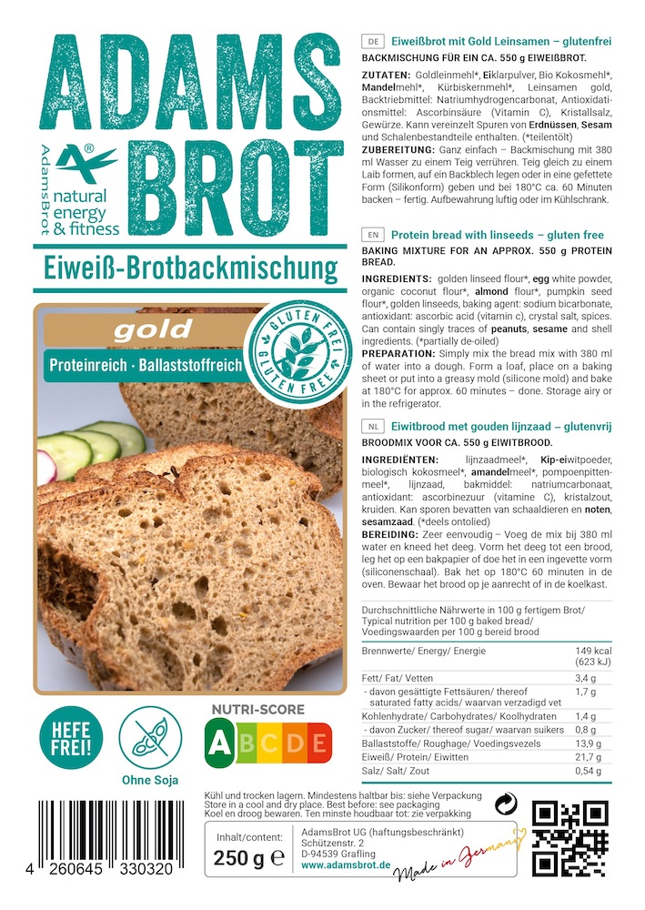 Adams Brot Broodmix Gold