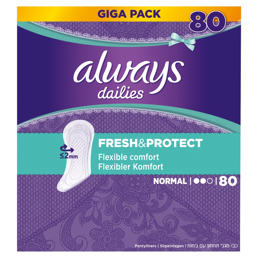 Always Dailies Fresh & Protect Inlegkruisjes Normal Gigapack