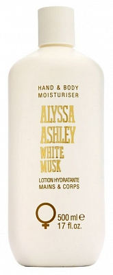 Alyssa Ashley White Musk Hand & Body Moisturiser - 500 ml - Bodylotion