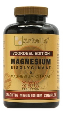Artelle | Magnesium Bisglycinaat & Citraat | 100 tabletten