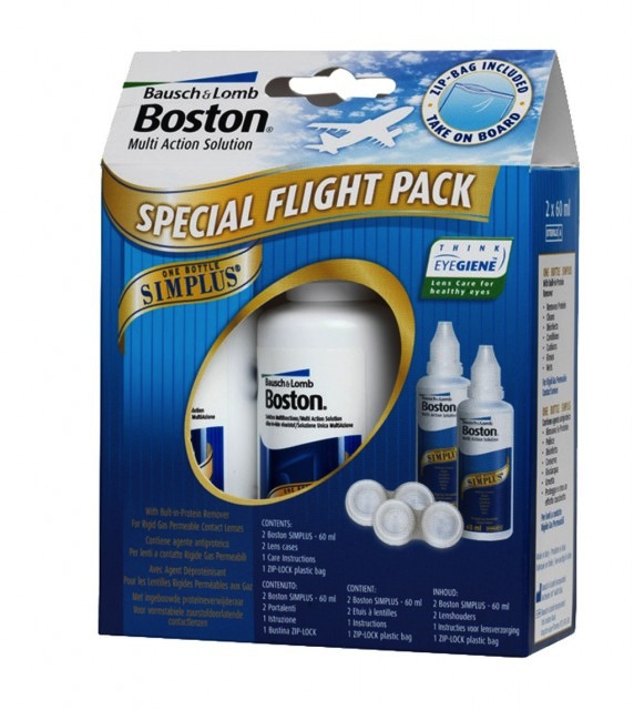 Afbeelding van Bausch & Lomb Boston Simplus Flight Pack 2x60ml