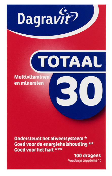 Dagravit Totaal 30 multivitaminen - 100 dragees
