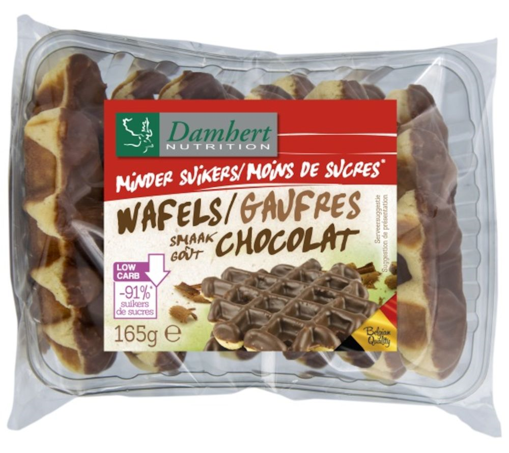 Damhert Minder Suikers Wafels Chocoladesmaak