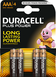 Duracell Plus Power AAA 4st