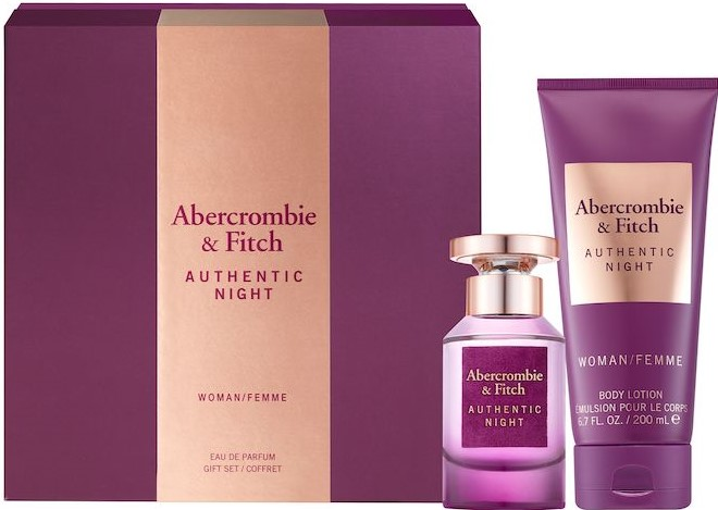 Productafbeelding van Abercrombie & Fitch Authentic Night Woman Geschenkset