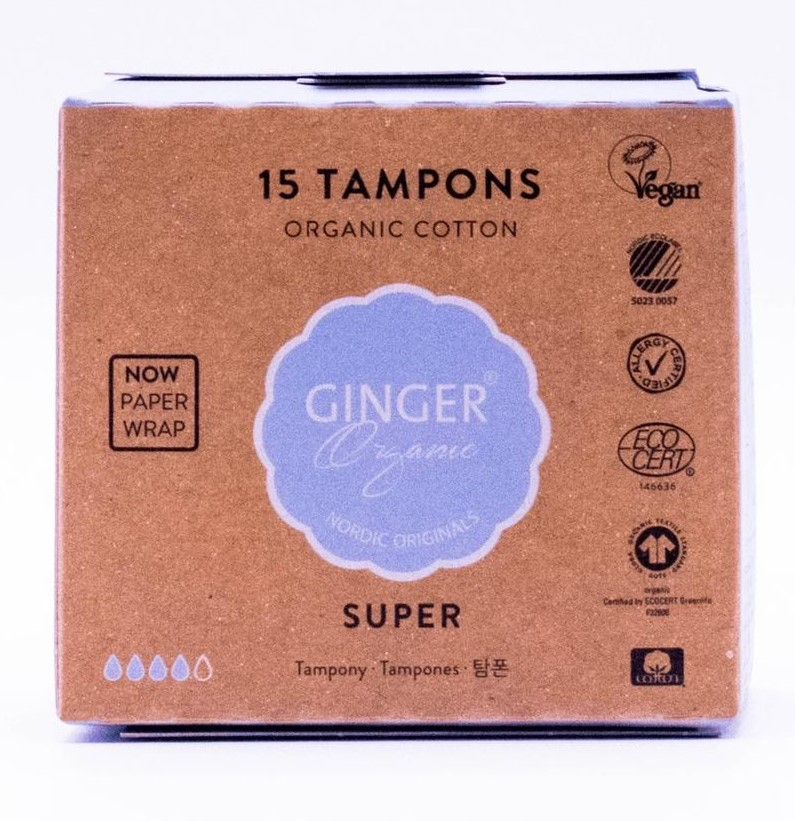 Image of Ginger Organic Tampons Super