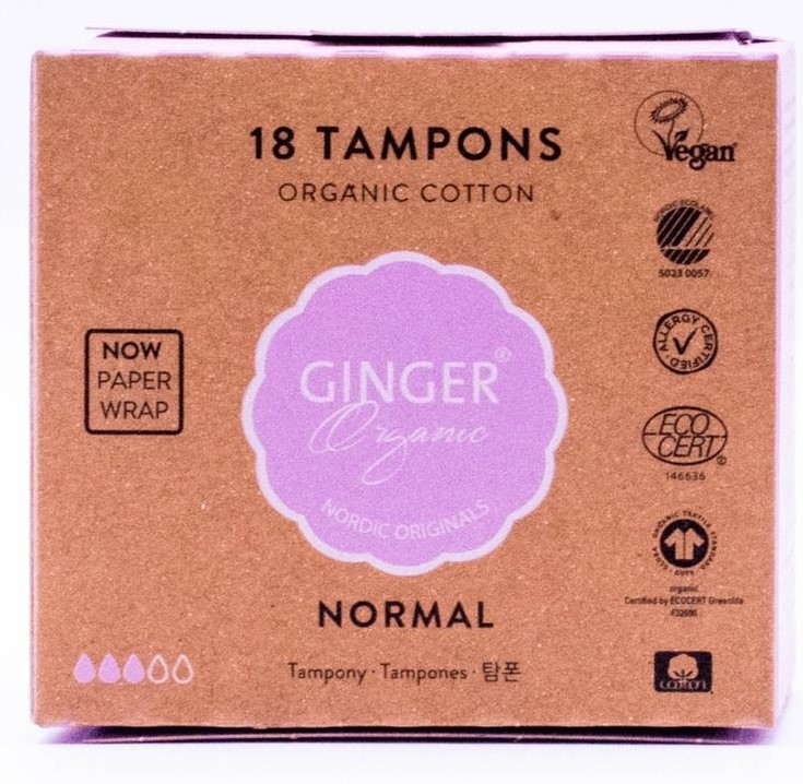 Image of Ginger Organic Tampons Normal