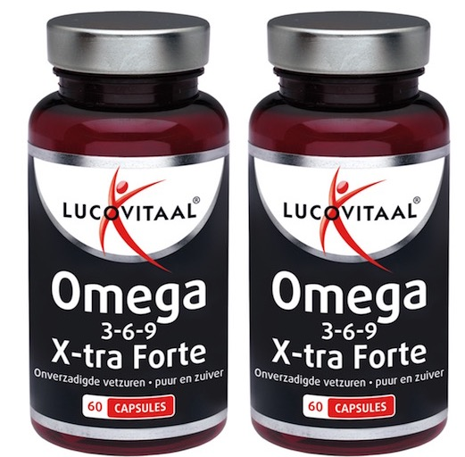 Lucovitaal Omega 3-6-9 X-tra Forte - 60 Capsules (duoverpakking) - Voedingssupplement