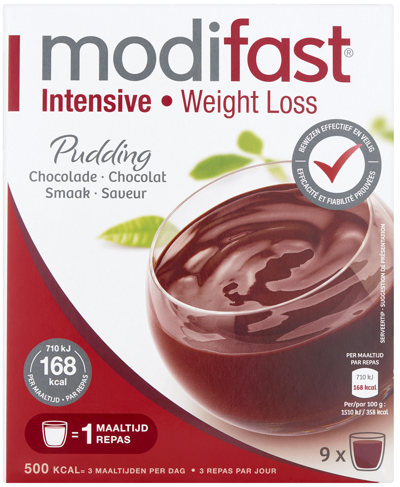Modifast Intensive Pudding Chocolade
