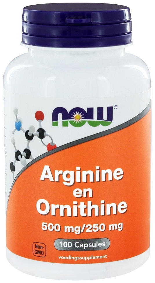 NOW Arginine & Ornithine 500/250 Capsules