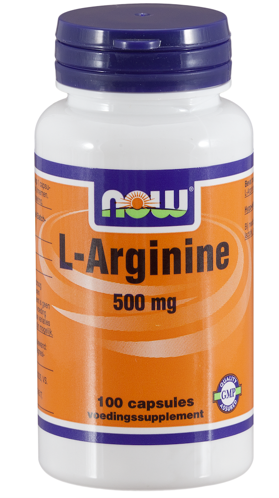 Now L-Arginine 500 mg Capsules 100 st