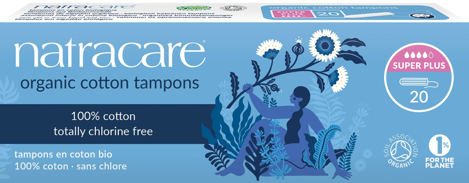 Image of Natracare Cotton Tampons Super Plus