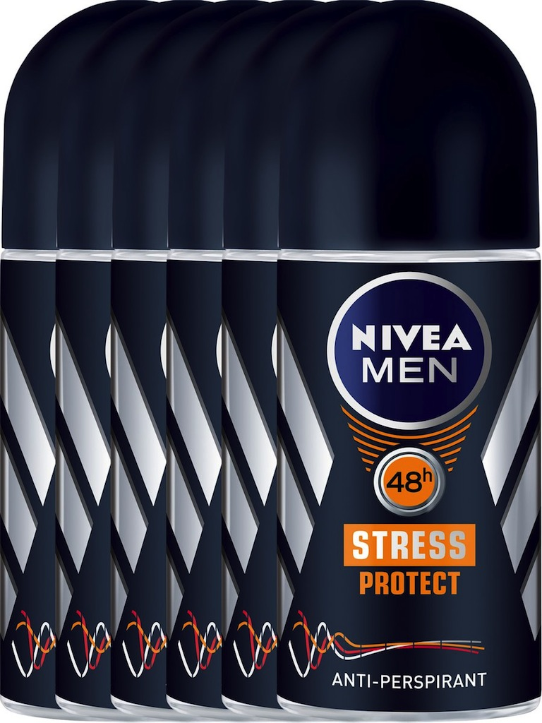 Nivea Men Stress Protect Roll-On Voordeelverpakking 6x50ml