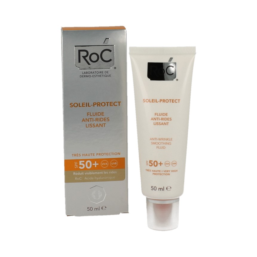 Roc Soleil Prot Anti-wrinkle Smoothing Fluid Spf50+ 50ml