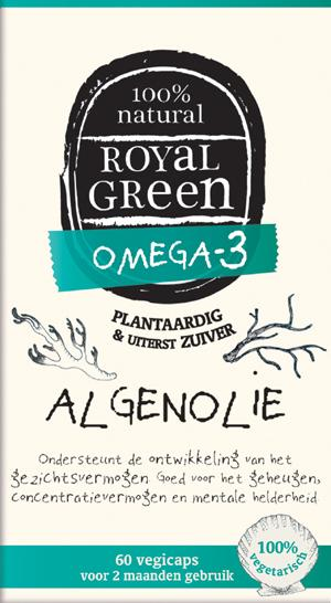 Royal Green Omega-3 Algenolie - 60 Capsules - Voedingssupplement
