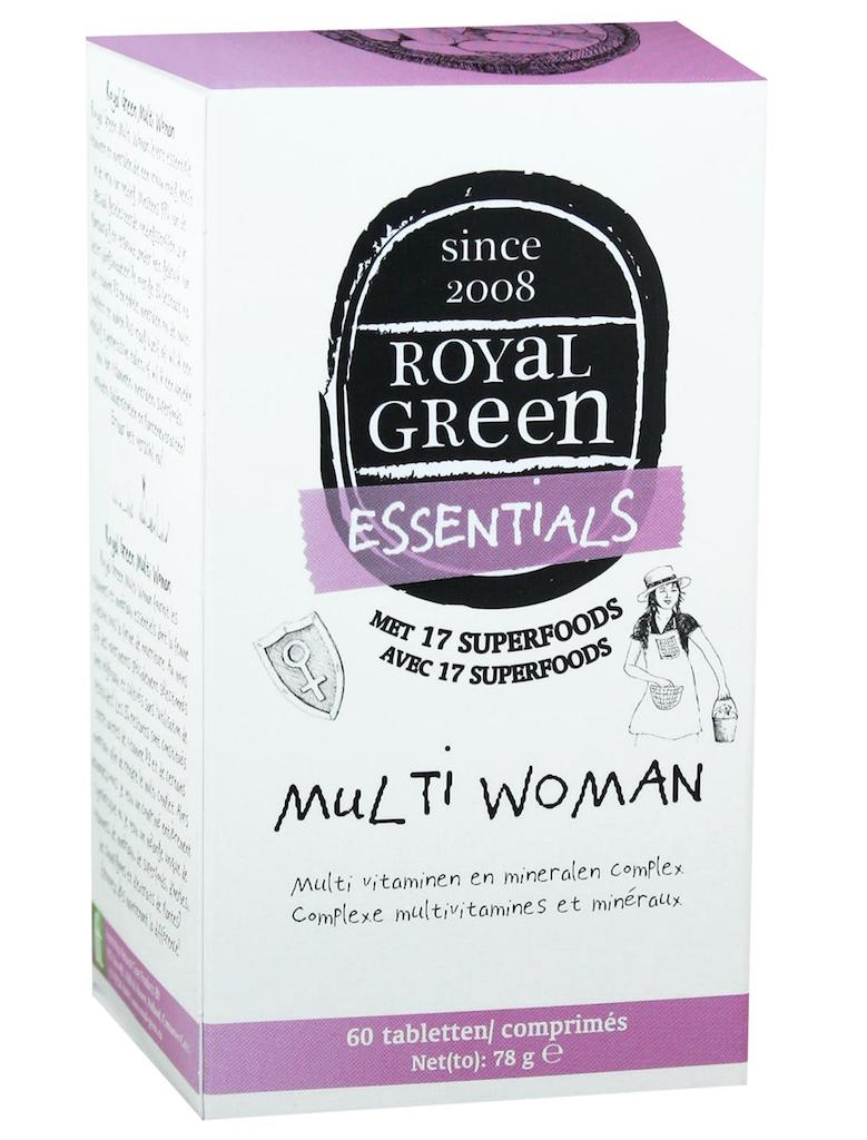 Royal Green Voedingssupplementen Royal Green Multi woman 60tab