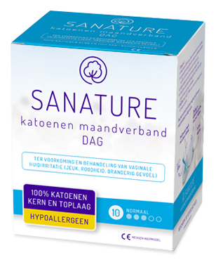 Sanature Maandverband Katoen Dag