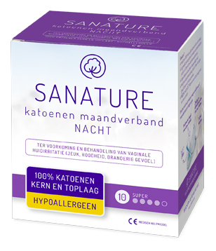Sanature Maandverband Katoen Nacht