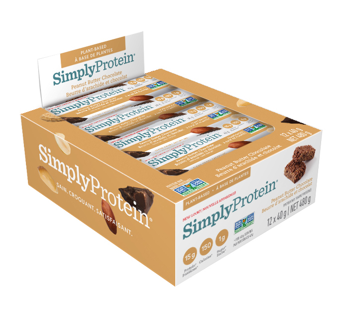 SimplyProtein Protein Bar Peanut Butter Chocolate Grootverpakking