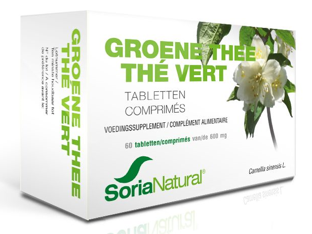 Soria Natural Groene Thee 600mg Tabletten 60st