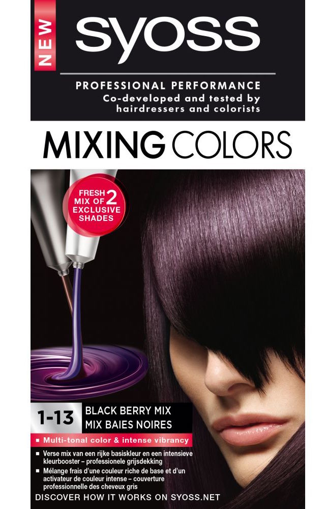 SYOSS Mixing Colors 1-13 Black Berry Mix - Haarkleuring