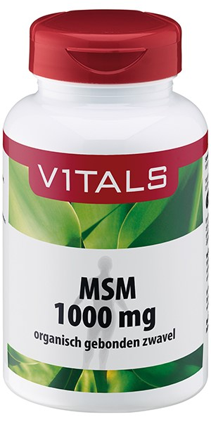 Vitals MSM tabletten 1000 mg - 120 Tabletten - Voedingssupplement