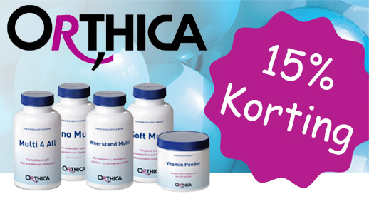 Orthica 15% korting