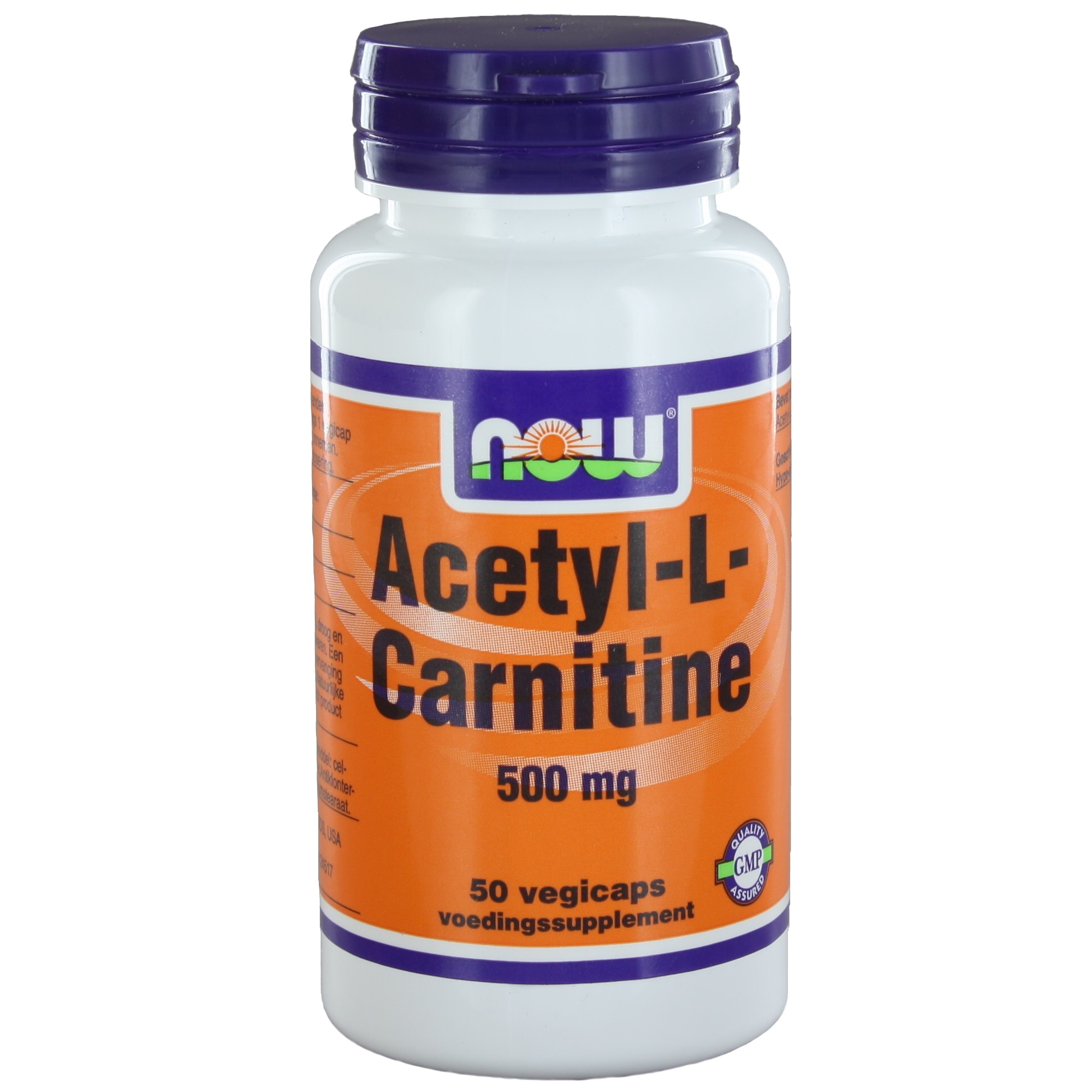 Now Acetyl-L-Carnitine 500 mg Capsules 50 st