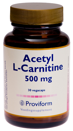 Proviform Acetyl L-Carnitine - 500 - 30 V-Capsules – Voedingssupplement