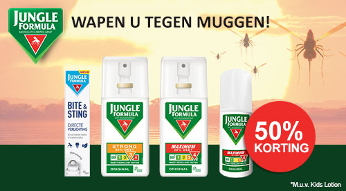 Jungle Formula 50% korting