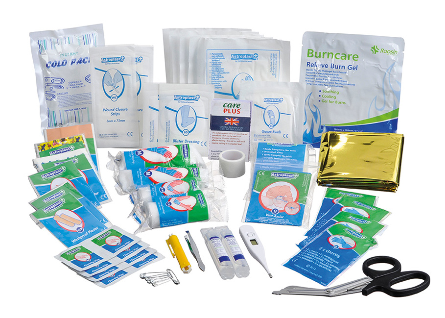 top 10 first aid treatment After 14 hours of research and tests of 12 wilderness first aid kits, we think  adventure  with a good kit, you should be able to treat minor injuries or  ailments in the field,  10 cc irrigation syringe, 14 alcohol cleansing pads.