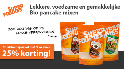 Superfoodies Pancakemixen tot 25% korting