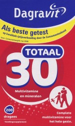 Dagravit Totaal 30 multivitaminen - 200 dragees