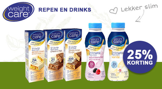 Weight Care drinks & repen -25%