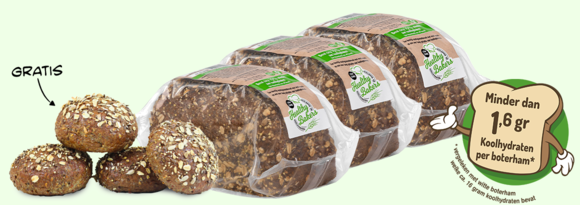 Healthy Bakers Low Carb Brood: 75% minder koolhydraten