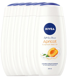 Nivea Apricot & Apricot Seed Oil Soft Care Shower Voordeelverpakking 6x250ML