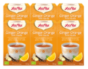 Yogi Thee Ginger Orange With Vanilla Voordeelverpakking 6x17ST