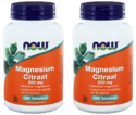 NOW Magnesium Citraat 200mg DUO Tabletten 2x100ST