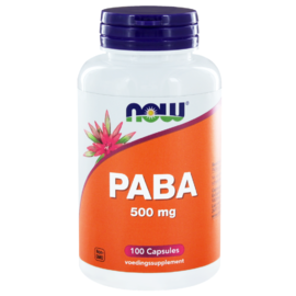NOW PABA 500mg Capsules 100ST